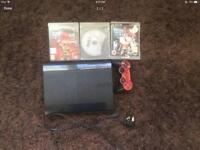 PS3 with 3 games and controller good Christmas present