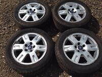 """For sale - Ford Focus / transit connect / Mondeo 16"""" alloy wheels - good tyres"""