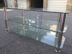 Luxury glass John Lewis TV stand.