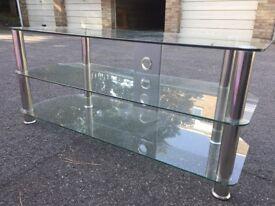 Luxury glass John Lewis TV stand.