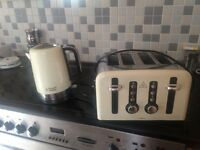 Russell Hobbs Cream Kettle and 4 Slice Toaster