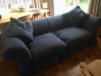 Free Large Blue 3 Seater Sofa