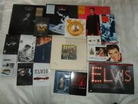 Elvis Presley Collection of books,CDs,Vinyl,DVDs,VHS etc.