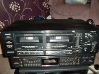 memorex twin auto reveres tape deck sct- 89