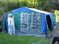 Family canvas frame tent Relum Super 7 series
