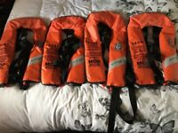 Royal Navy issue Crewsaver Lifejackets x4