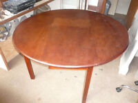 Antique Drop Leaf Wooden Table With Drop Down Sides