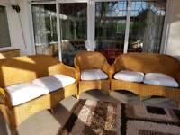 3 piece wicker garden conservatory furniture John Lewis