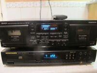 Denon DRW-580 Double Cassette Deck + Marantz Compact Disc Player CD-48
