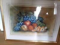 Stunning watercolour still life by f.m.m fruits framed
