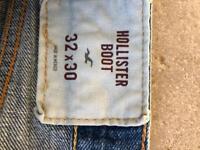 Men's hollister new boot jeans 32x30