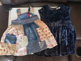 Next girls dresses 12-18 months