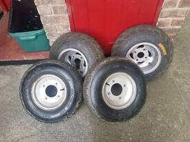 Quad wheels and tyres
