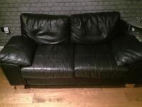 Leather Sofa - Black