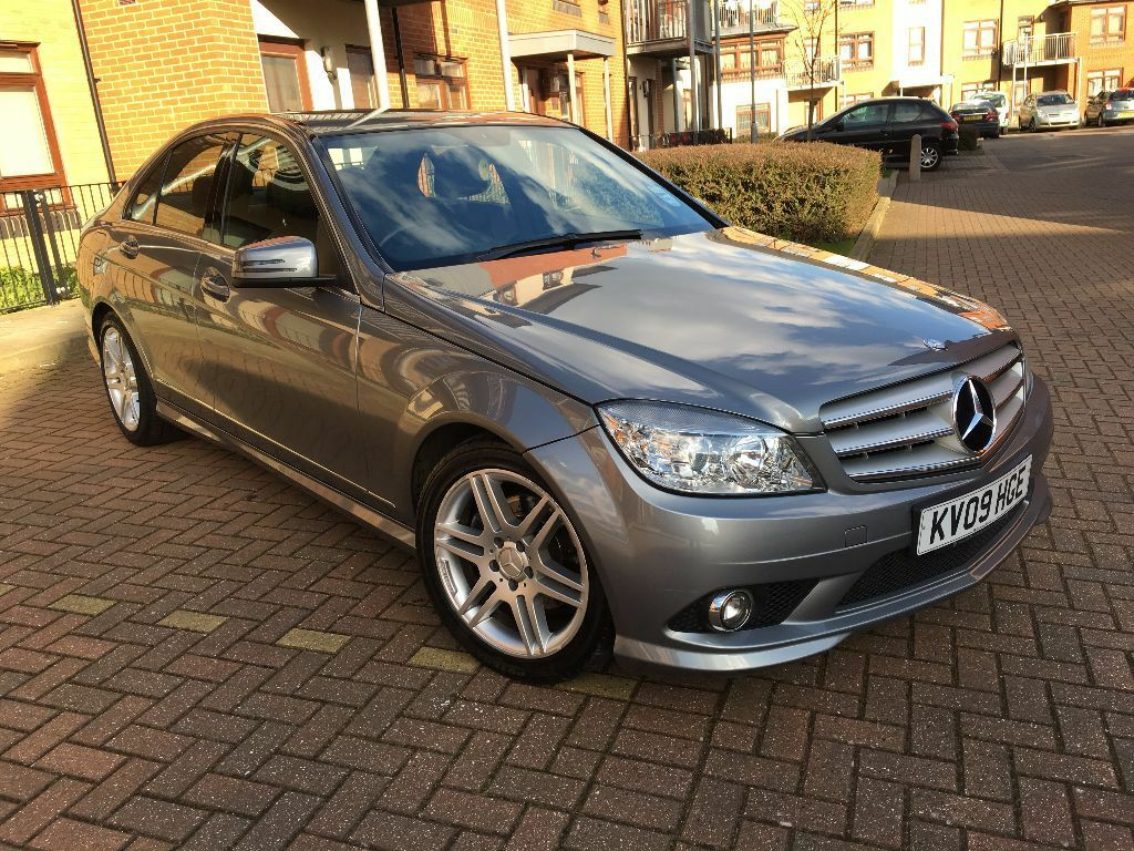 mercedes benz c class 2 1 c220 cdi sport 4dr 2009 09 reg saloon hpi clear full service. Black Bedroom Furniture Sets. Home Design Ideas