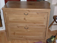 Ikea aspelund chest of drawers wood effect.