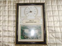 1 As new Newcastle utd no1 supporter stadium wall clock for sale in pristine condition/working order