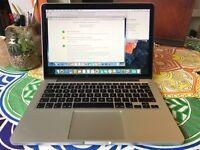 Apple Macbook Pro 13 Retina 2014 model 2.4Ghz Core i5, 8GB Ram, 256GB SSD, Intel Iris 1536MB