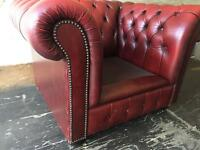 Genuine leather Chesterfield sofa • free delivery