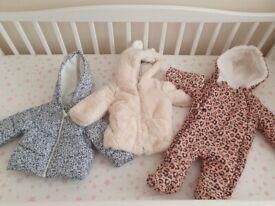 Baby girls coats 3-6months