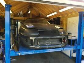 Toyota Supra v8 rear mount turbo drag car project