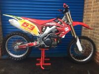 HONDA CRF 450 (2012) EFI ELECTRONIC FUEL INJECTION DC SHOES WERX GRAPHICS SUPER CLEAN