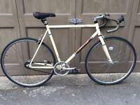 Beige gent's fixie bicycle bike 58cm frame