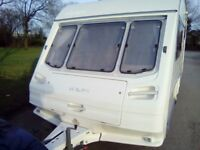 Sterling europa 2 berth 1997 no damp full awning large end wash room