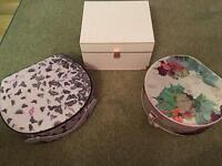 Ted baker vanity/make up cases and gift chest box