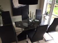 Barker & Stonehouse Table & 6 Chairs.