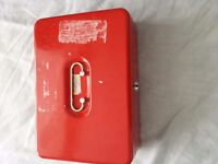 Petty Cash Box, Large, Black or Red
