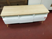 West end Two tone Large Tv unit - White and Oak second
