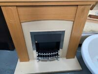 ELECTRIC CHROME SILVER FIRE WITH COMPLETE SURROUND CAN DELIVER