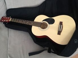 Nevada acoustic guitar with stagg case