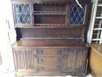 Stunning Solid Oak Hand Carved Welsh Dresser FREE delivery