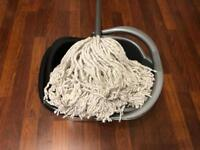 Mop bucket and wringer used twice