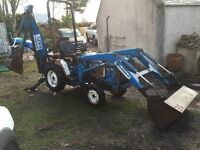 FORD 1220 COMPACT TRACTOR WITH LOADER AND BACKHOE