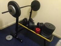 All weights and a bench for 60£
