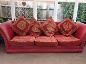 Sofa - beautiful bespoke, hand made, classic country style (4 seater)