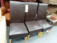 3 x Leather Look Chairs…WF1830