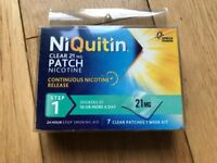 Niquitin (step 1) clear patches 21mg