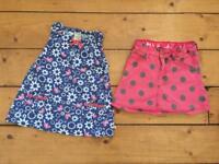 Girls Frugi organic cotton top & skirt age 4-5