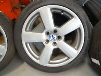 "**GENUINE AUDI RS6/ vw 18"" ALLOYS WITH GOOD TYRES £300ono MANY MORE SETS AUDI/VW 17s 18s 19s 21s"