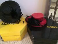 2 Stylish Selfridges Ladies Hats - Ideal for Weddings & The Races