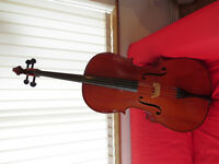 Beautiful Cremona full size cello with lovely tone + soft case and bow