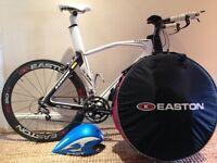 Time Trial/Tri large frame LOOK 596 carbon bike