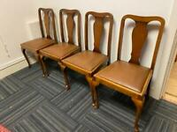 Set of 4 vintage Queen Anne dinning chairs