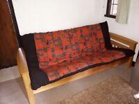 Solid Oak double futon
