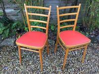 Pair of 1960s BENCHAIRS chairs