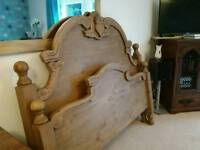 Luxury Antique pine king size bed
